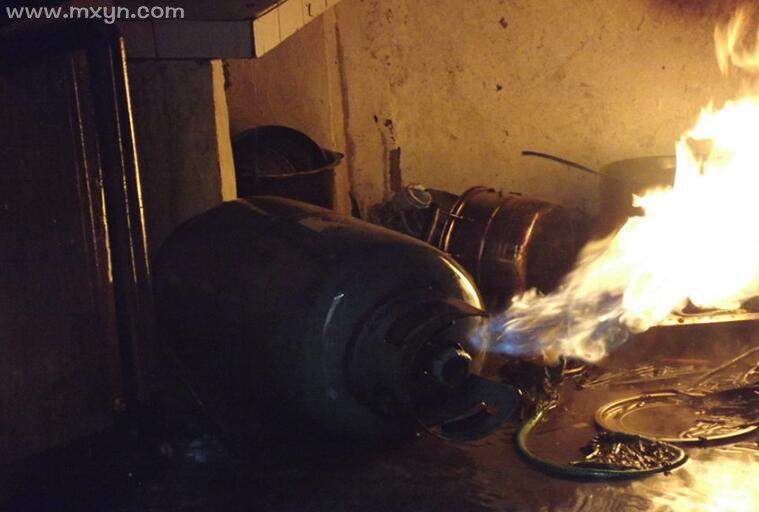 梦见煤气罐着火
