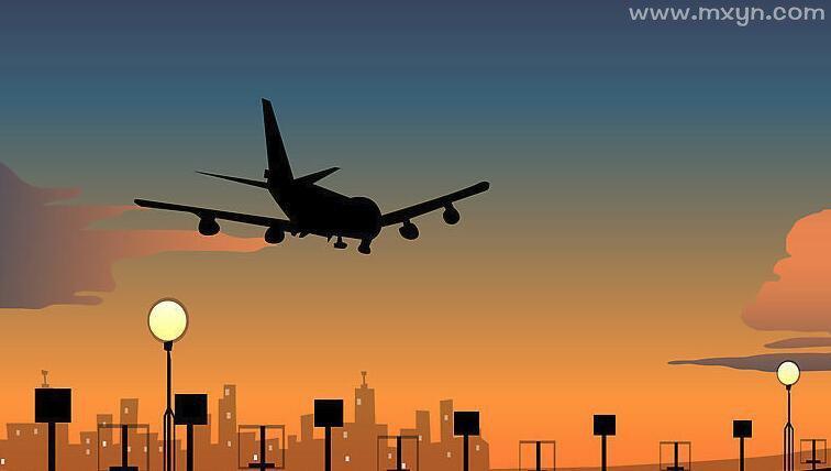 梦见飞机降落
